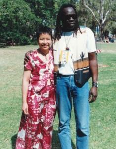 Annette with Geoffrey Oryema